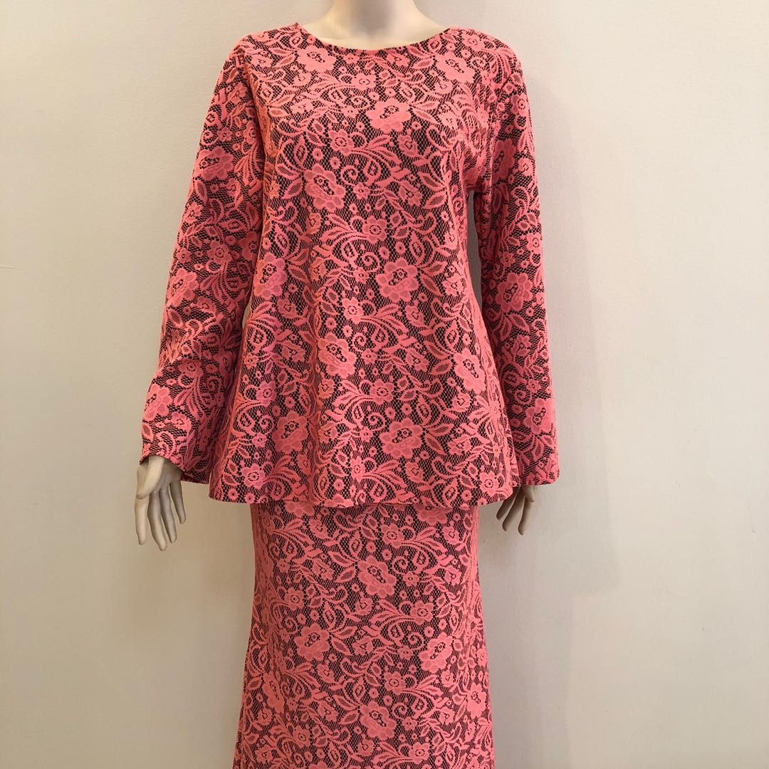 b3d4d7fe Baju Kurung Lace Free-Size Many Colours!, Women's Fashion, Muslimah ...