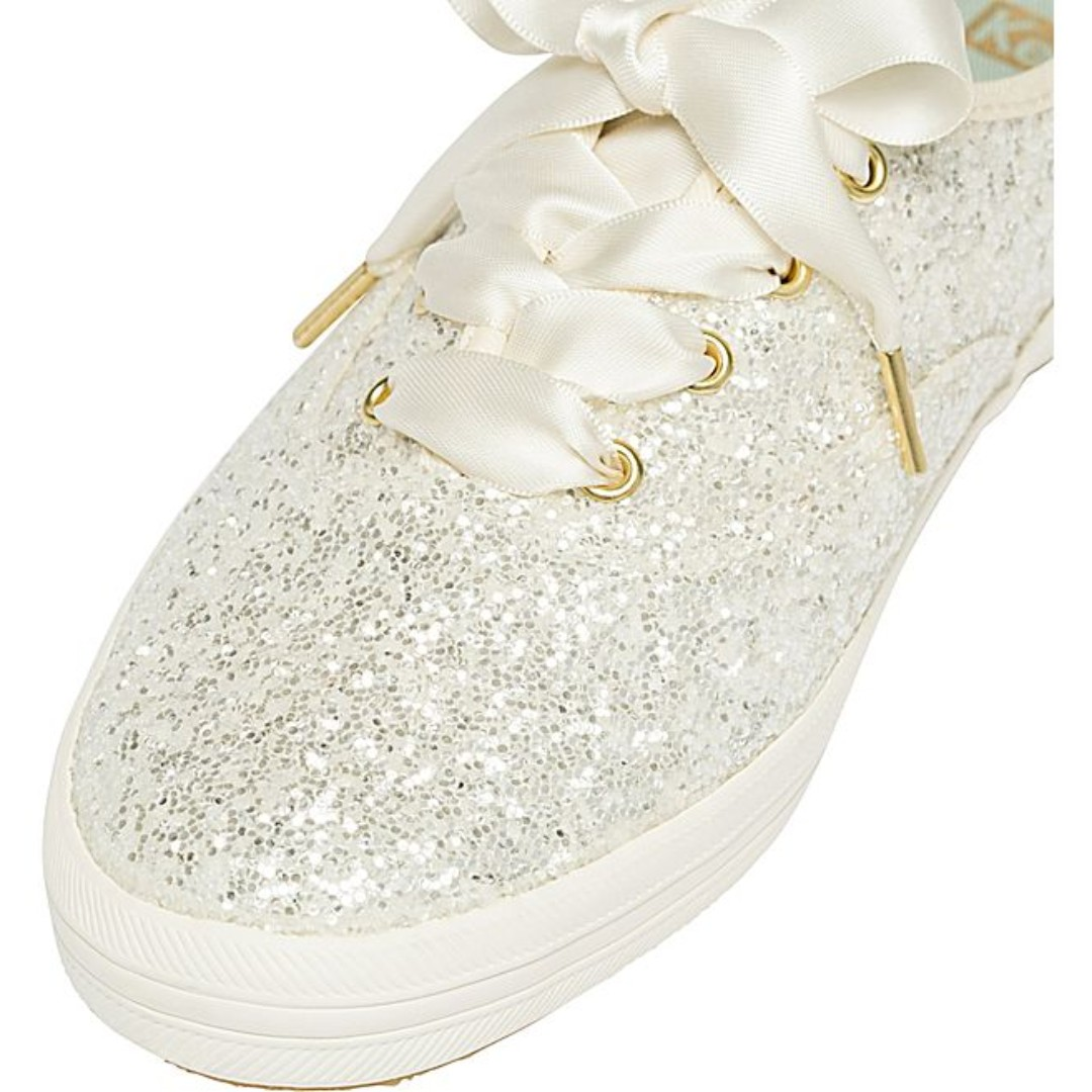 71a1caef4456  BLACK FRI PRE-ORDER  Keds x Kate Spade New York Champion Glitter sneakers  (CREAM COLOUR)
