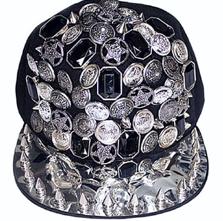 Black Spiked Cap SnapBack Hat 7bf92392791