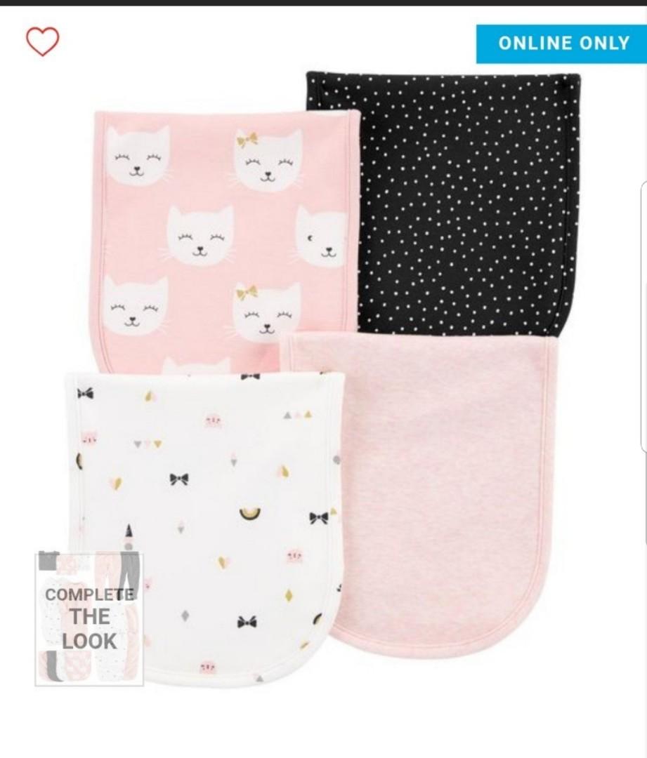 Bn Carter S 4 Pack Burp Cloths For Baby Girl Babies Kids Babies