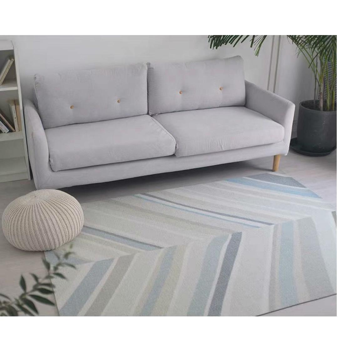 Carpet Contemporary Blues Rug Living Bedroom Decor Furniture Home Decor Others On Carousell
