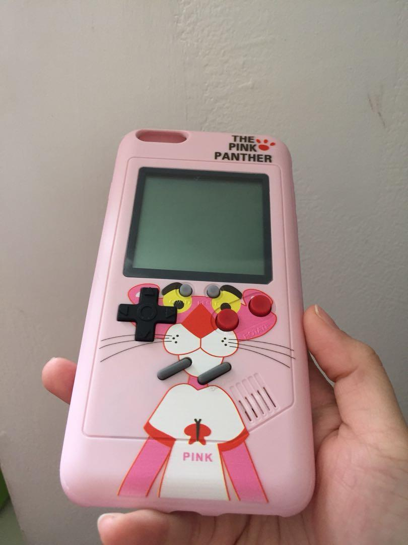 Case pink panther game boy for iphone 6+/6s +