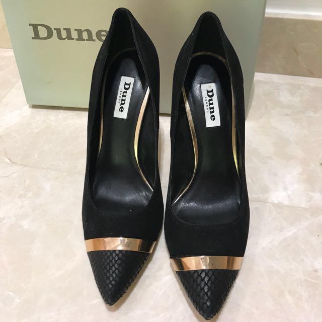 Dune Ladies Pumps / Heels - Black Suede