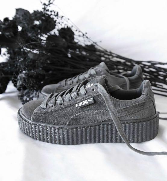 release date: 955cb 181cc Fenty x Puma Velvet Creepers in Grey, Women's Fashion, Shoes ...