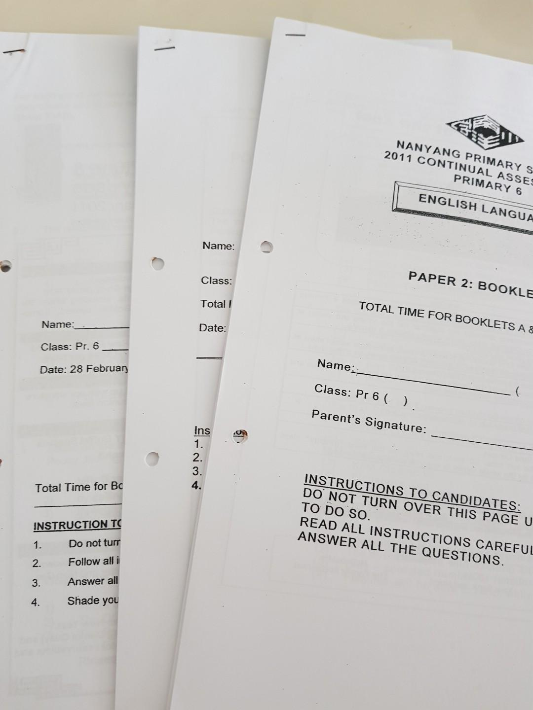 FWP - New) P6 English Exam Papers, Books & Stationery