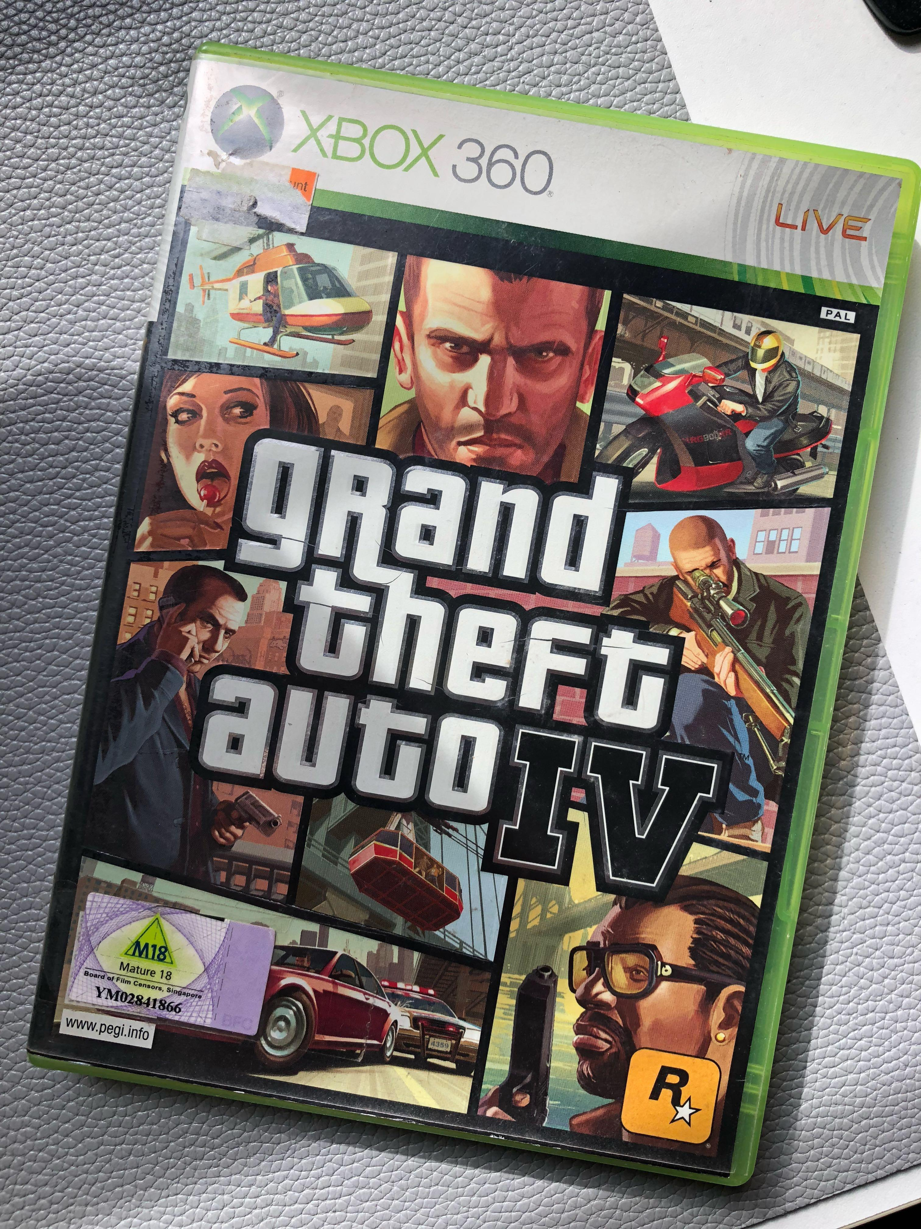 GRAND THEFT AUTO 4 GTA IV for XBOX 360 on Carousell