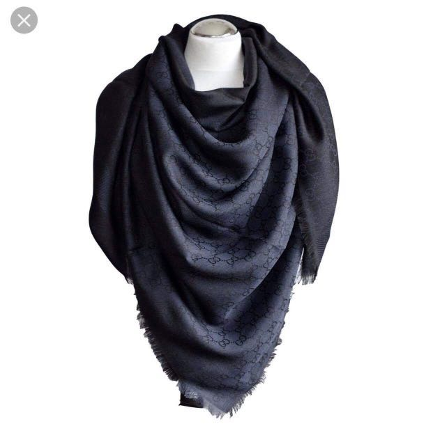 aa4e8281517 Gucci Scarf (Silk) in Blue Colour