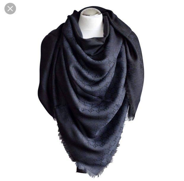 d8c8df8c6b Gucci Scarf (Silk) in Blue Colour, Women's Fashion, Accessories ...