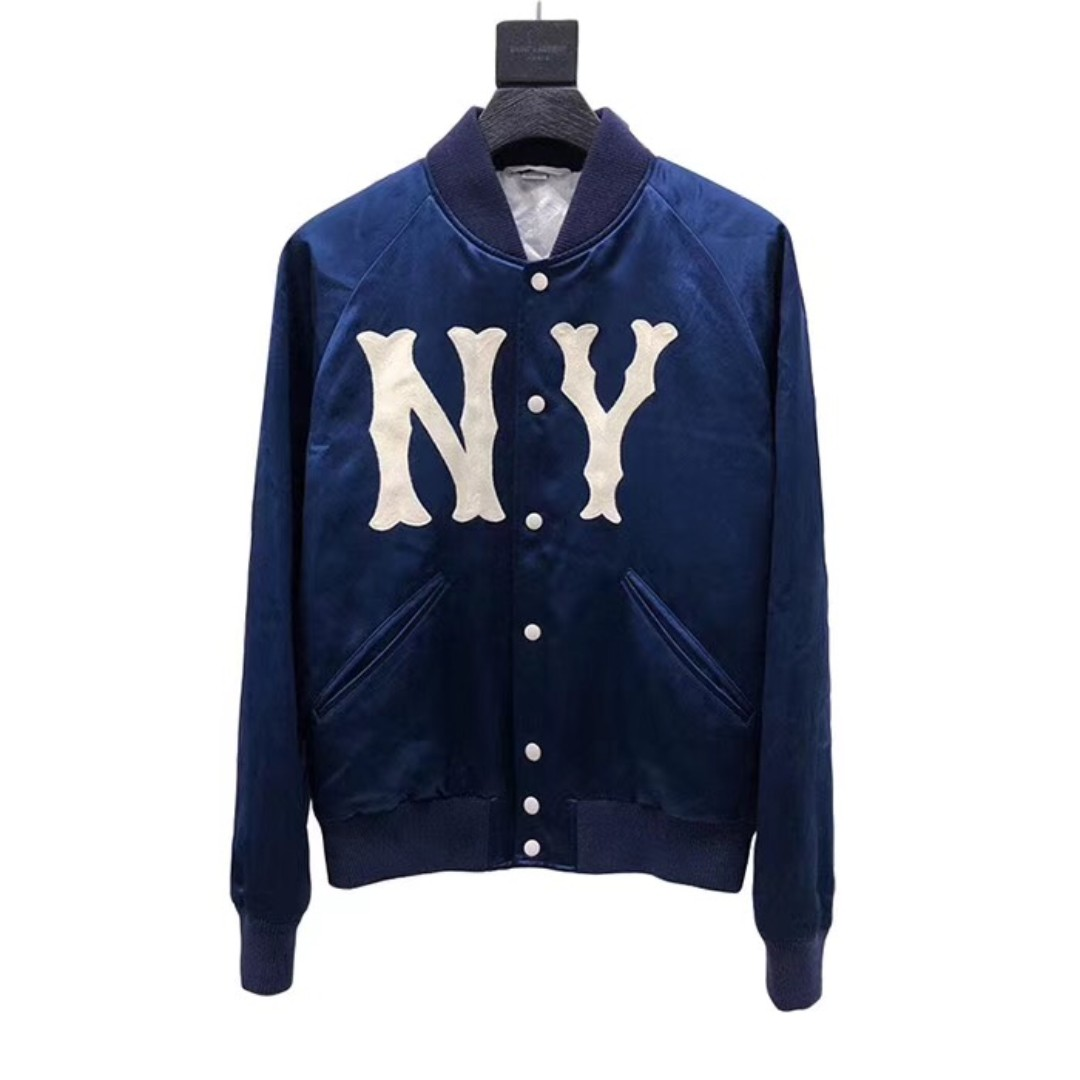 16d5ad7df Gucci x Yankees NY Teddy Jacket, Men's Fashion, Clothes, Tops on ...