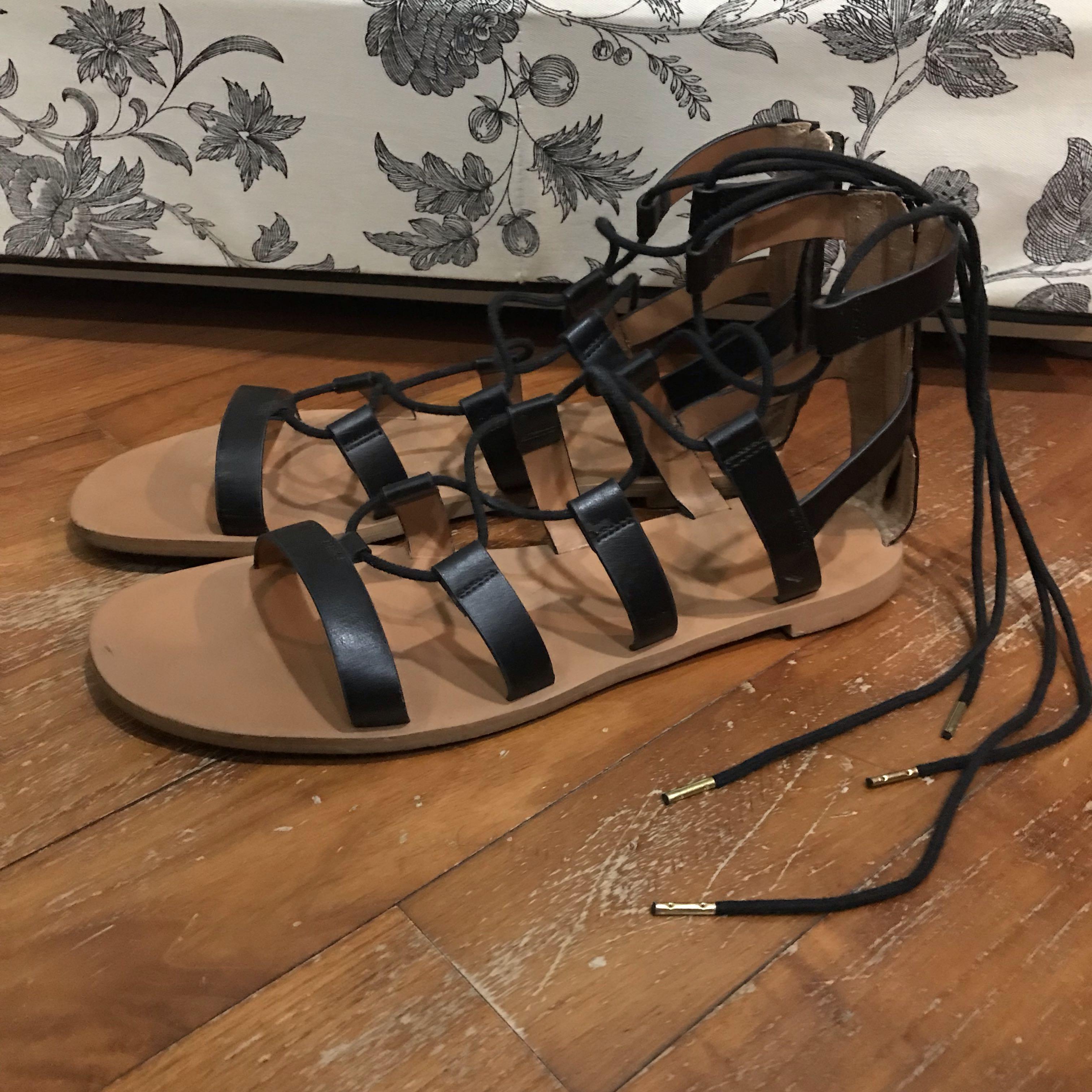 c739e3c3840d H M Gladiator Sandals size 39