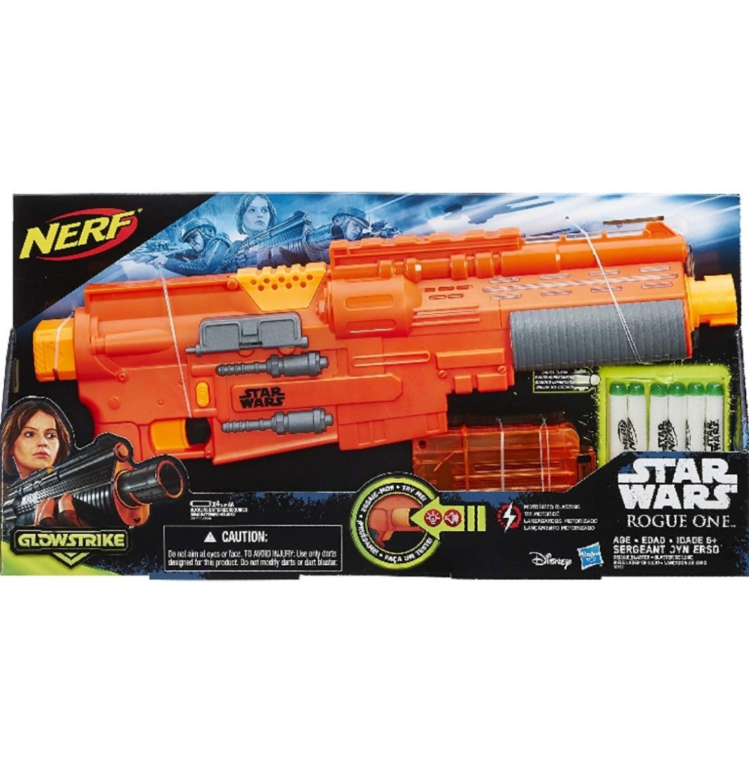 Glow In The Dark STAR WARS Rogue One Darts Blaster Toy HASBRO Gun Lights Sounds Action- & Spielfiguren