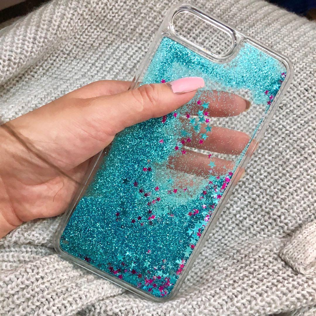 iPhone 7 Plus Sparkly Liquid Glitter Hard Case/Cover