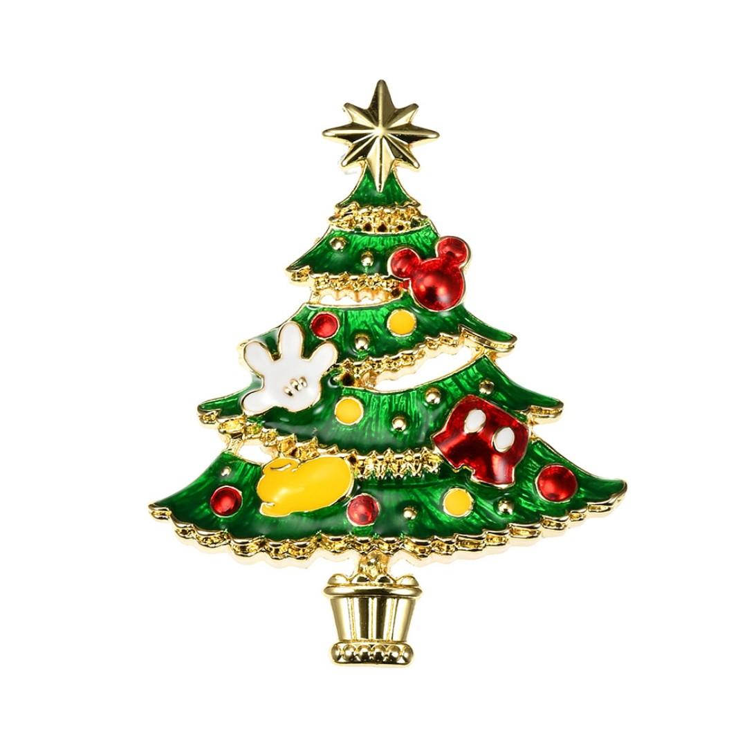 Japan Disneystore Disney Store Mickey Mouse Christmas Tree Pin Badge