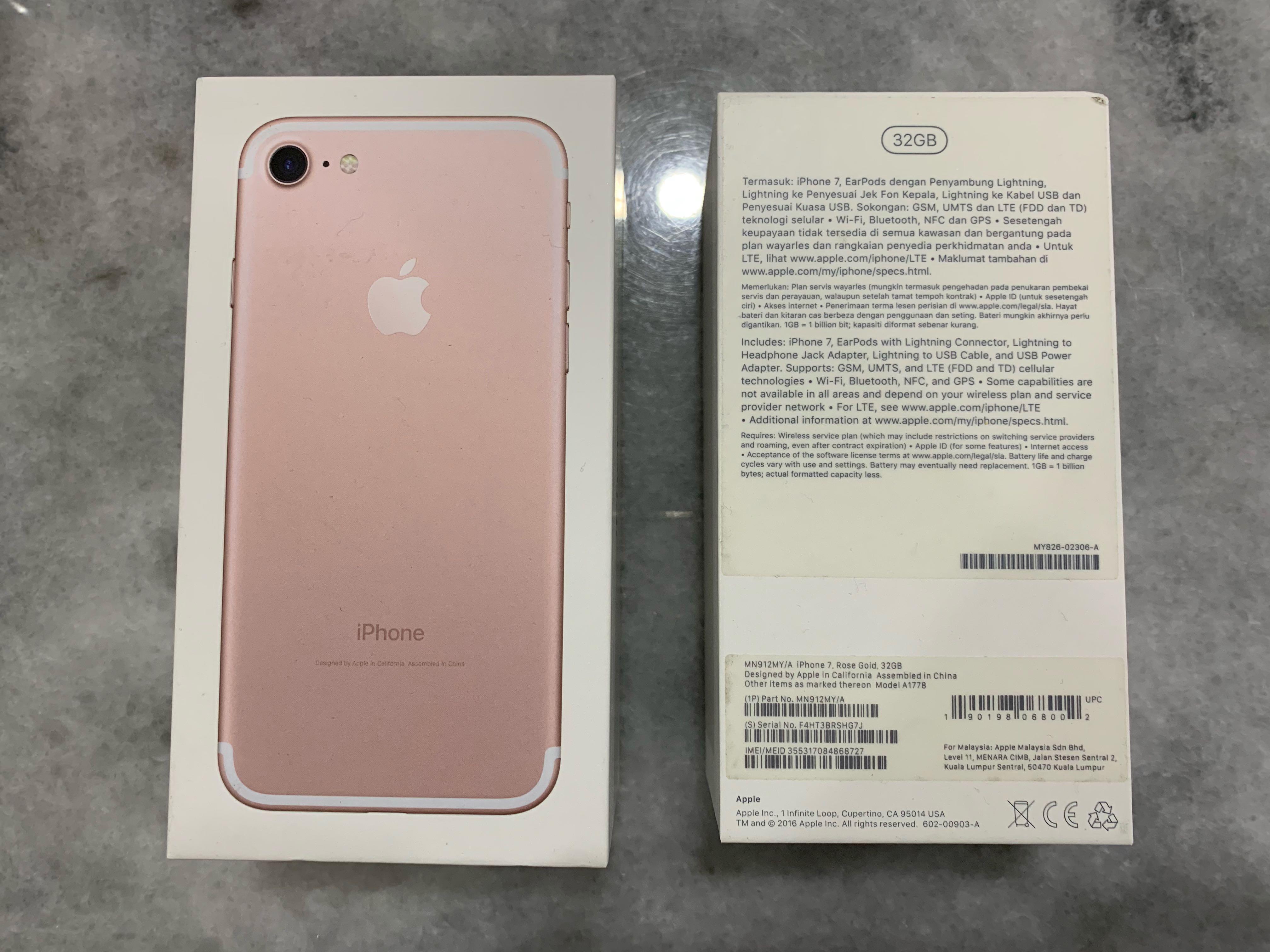Kotak iPhone 7 untuk dijual. iPhone 7 box for sale