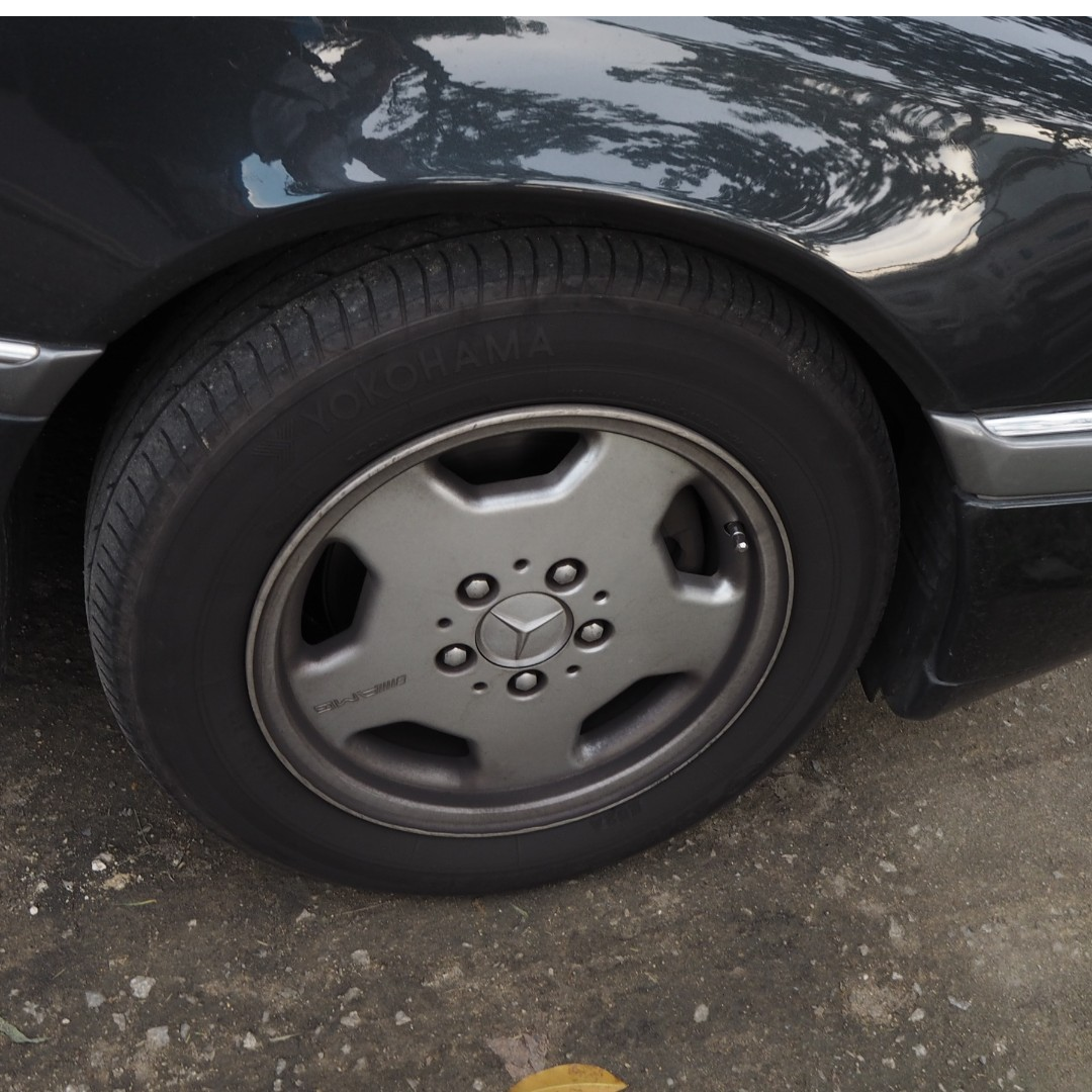 MERCEDES W202 AMG RIMS WITH TYRES 195/65/R15