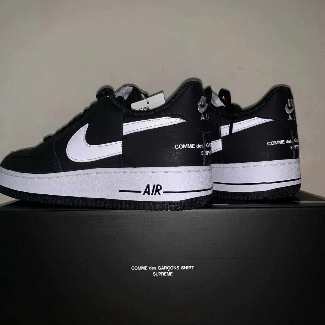 ea75c669b6 NIKE AIR FORCE 1 x SUPREME x CDG US 8.5, Men's Fashion, Footwear ...