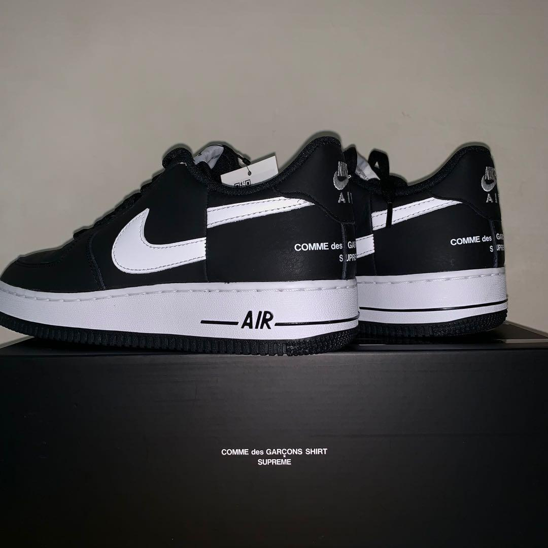 the latest 86e47 34a02 NIKE AIR FORCE 1 x SUPREME x CDG US 8.5, Men's Fashion ...