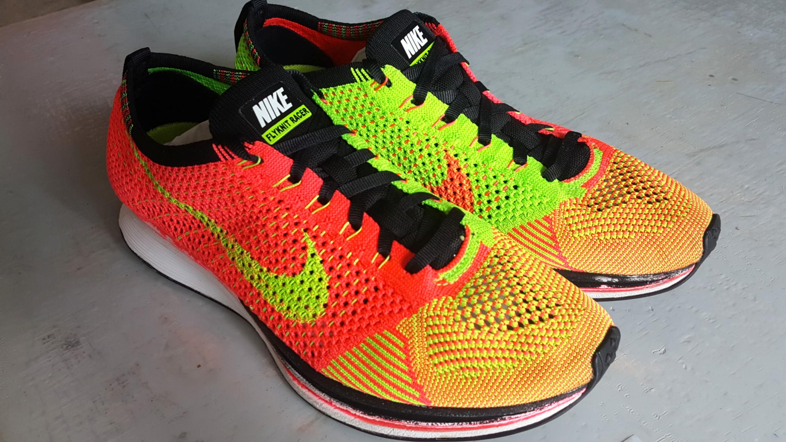 huge discount 576e6 07cec Nike Flyknit Racer Hyperpunch, Men s Fashion, Footwear, Sneakers on ...