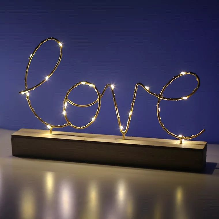 Nordic Home Decor Ornament Bedroom Letter Night Light