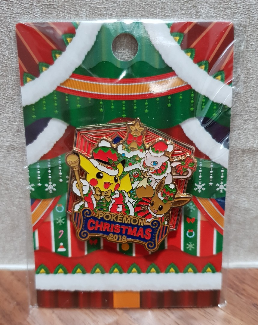 Pokemon Christmas.Original Pokemon Center Christmas 2018 Pin