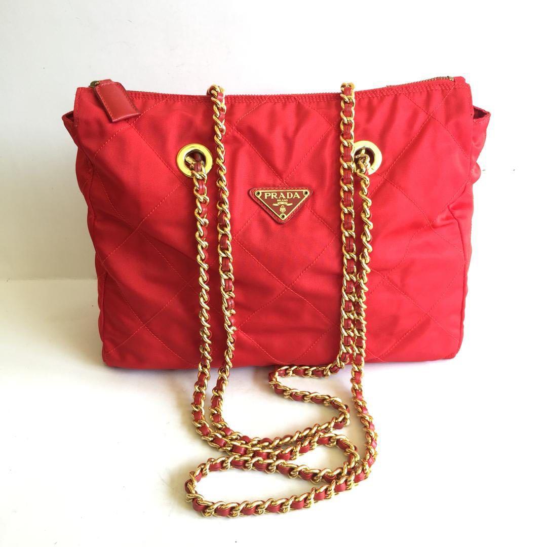 3155f85df0b1 prada tessuto quilted chain shoulder vintage, Women's Fashion, Bags &  Wallets, Handbags on Carousell