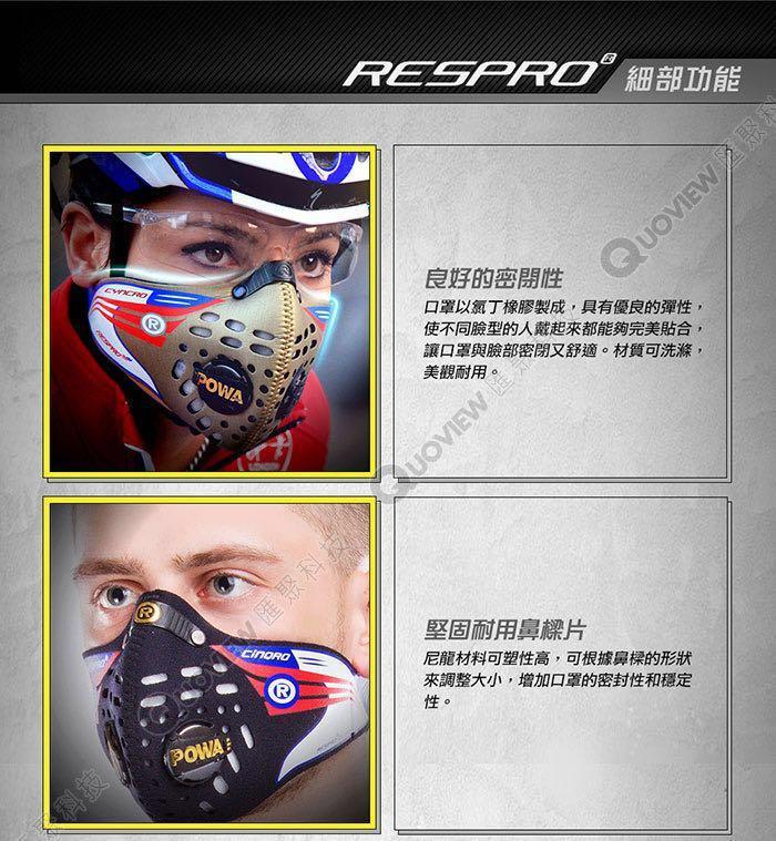 英國頂級款Respro迷彩口罩L號 🇬🇧 防霧霾