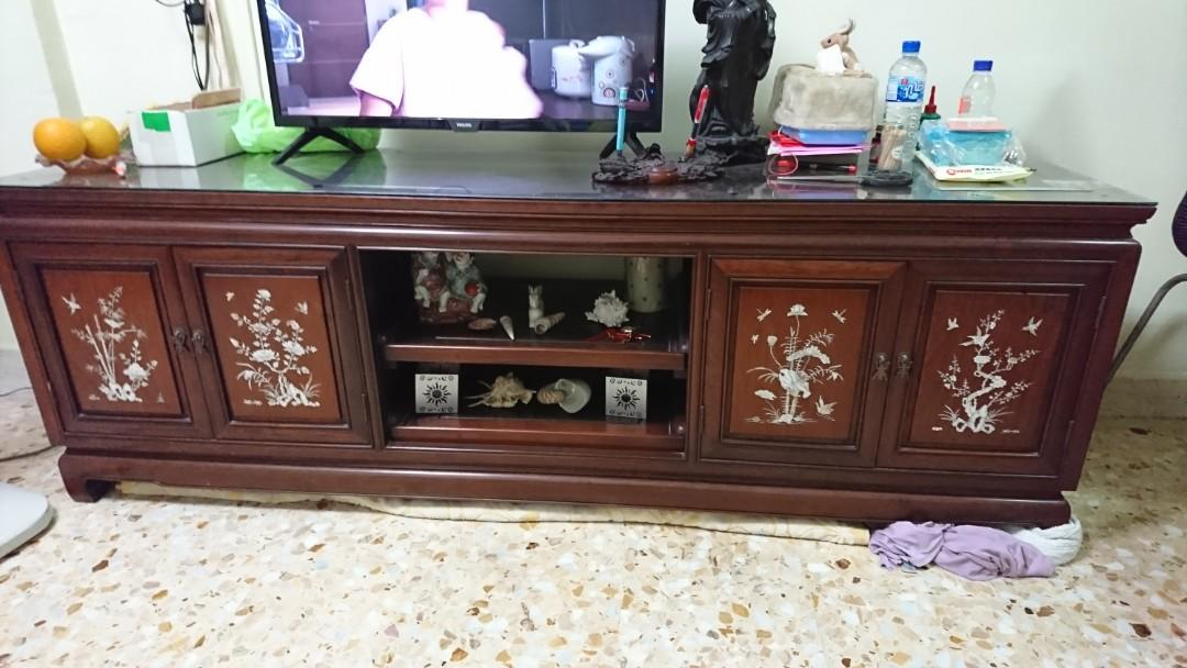 pretty nice 70542 0e6d7 Rosewood TV Cabinet, Furniture, Others on Carousell