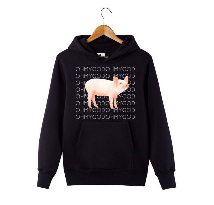 6702735d68 Shane Dawson - OHMYGOD PIG MERCH (Hoodie) - Black, Men's Fashion ...