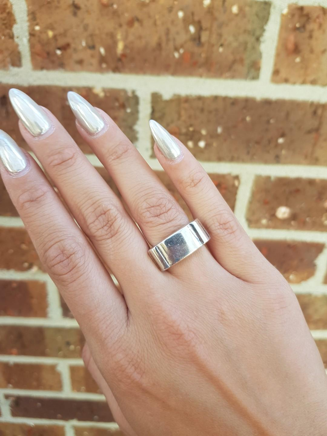 Solid sterling silver ring