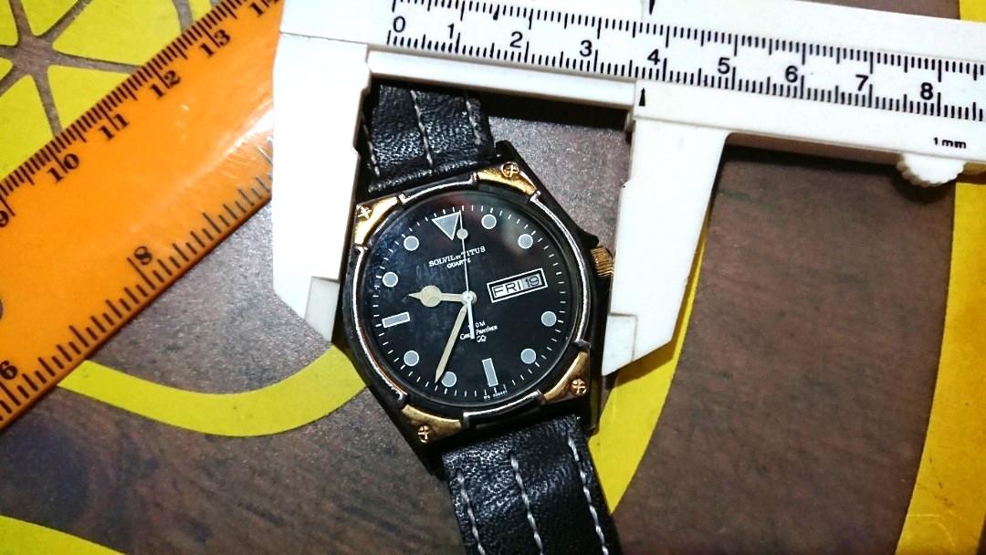 finest selection dd057 caa78 SOLVIL TITUS 瑞士鐵達時電子雙曆時計, 手錶直徑37mm 保存至今運作正常, 合手錶收藏人士,如有興趣聯絡我。