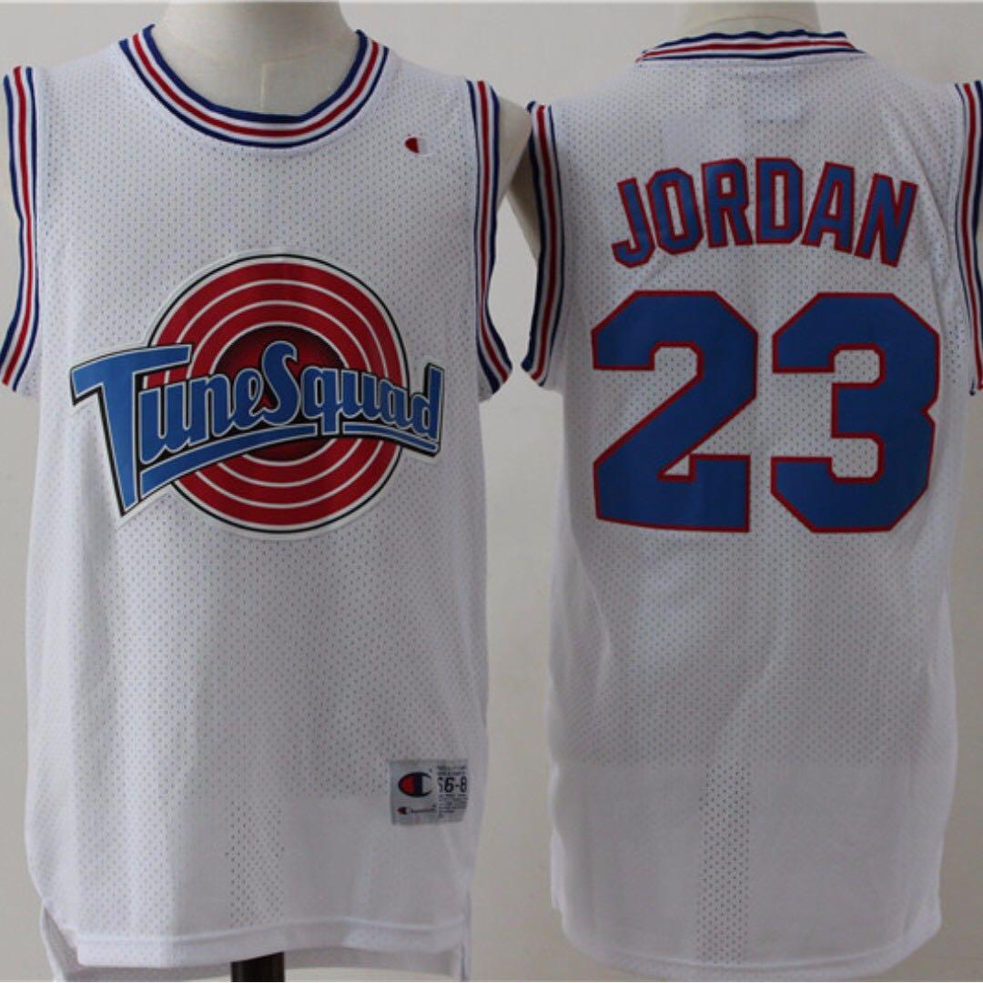 f32415d4170142 Space Jam Tune Squad Basketball Jersey White  23 Jordan