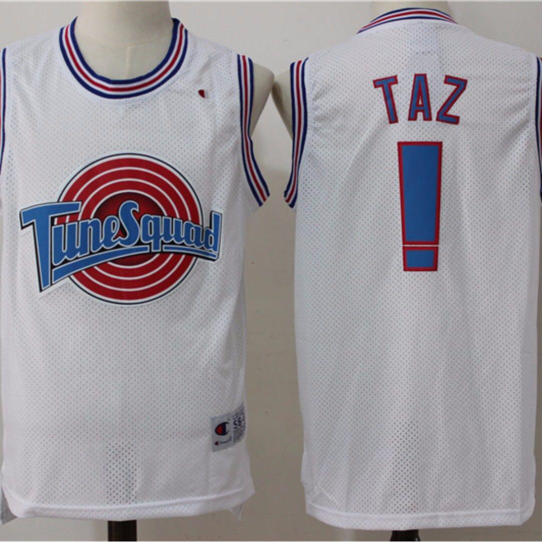 1e86840cffc Space Jam Tune Squad Basketball Jersey White #! Taz, Men's Fashion ...
