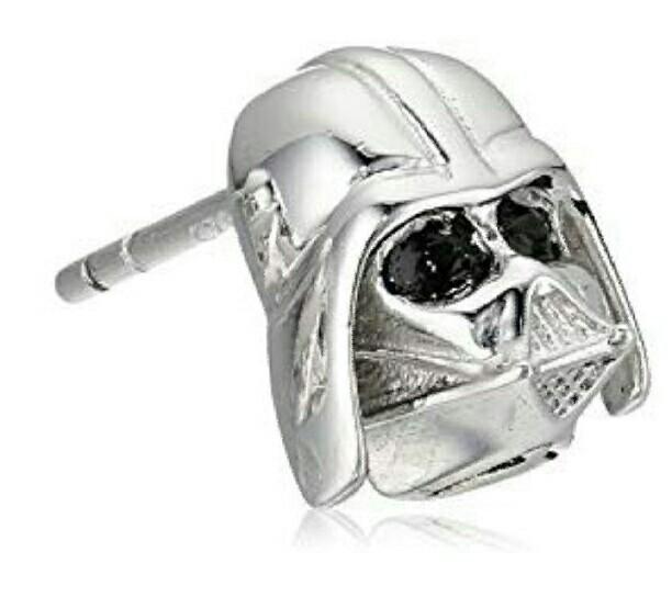 925 Sterling Silver Darth Vader Stud