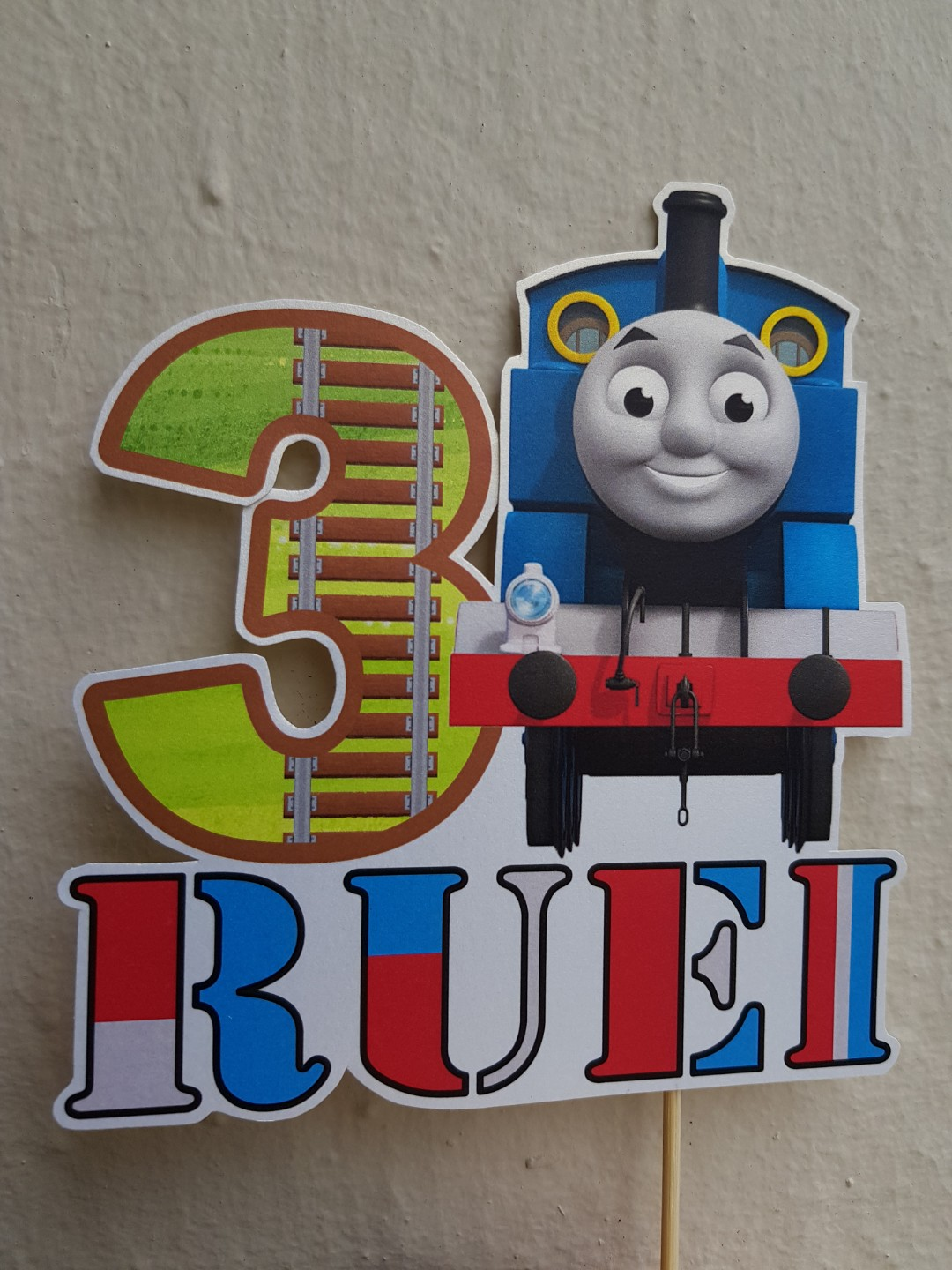 Brilliant Thomas The Train Birthday Cake Topper Babies Kids Toys Personalised Birthday Cards Paralily Jamesorg