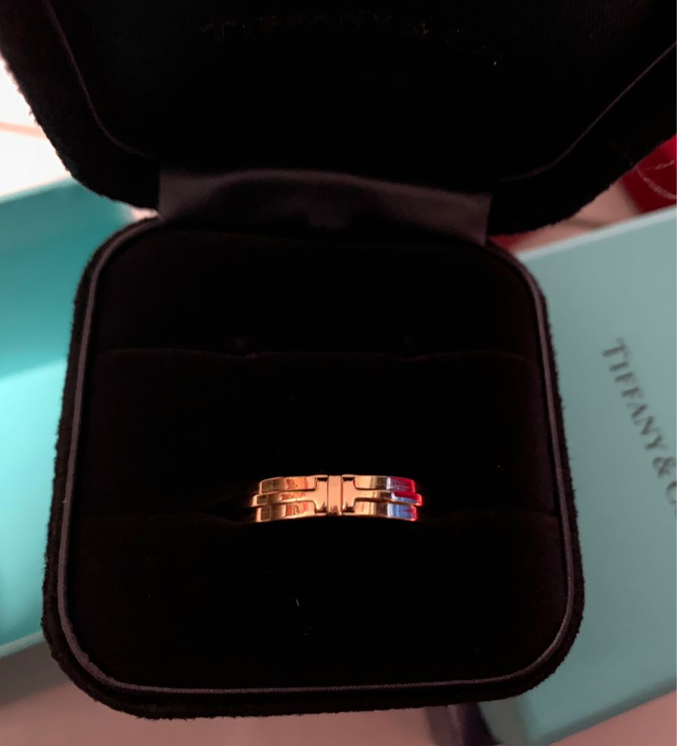 596eaccbc2c6e Tiffany & Co Two Narrow Ring 18K Gold Authentic , Luxury ...