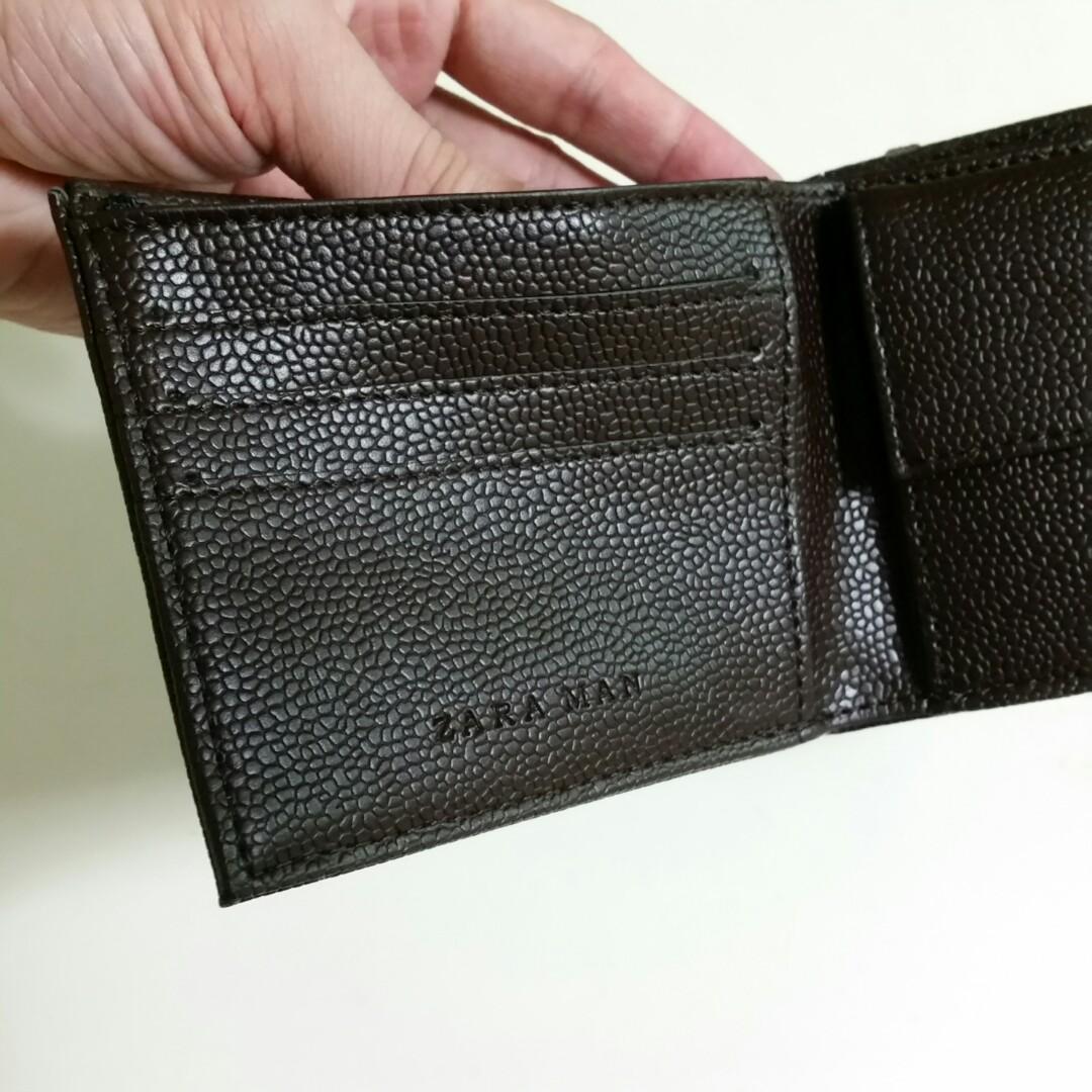 2ff114d0 Zara Man Men's Leather Wallet Authentic Dark Brown, Men's Fashion ...