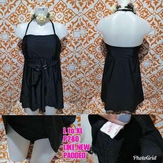 Black Plus Size One Piece Swimwear