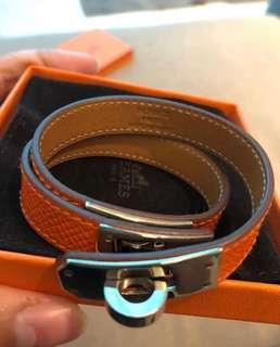 authentic hermes bracelet kelly double tour stamp O