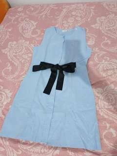 New blue dress yuan
