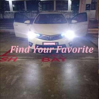 Toyota Altis 2016 model on H11 S2 BRAND COB LED headlight 6500k super white cash&carry only without installation