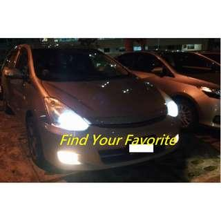 Toyota Wish model on S2 BRAND H11 COB LED headlight 6500k super white for cash&carry only without installation.