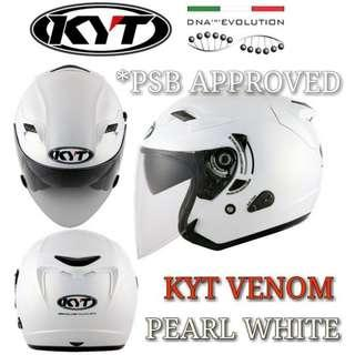 *PSB APPROVED KYT VENOM PEARL WHITE..🤗!!