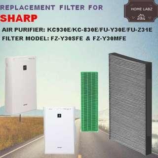 Sharp FU-Y30E /FU-Z31E/KC-930E Compatible Filter