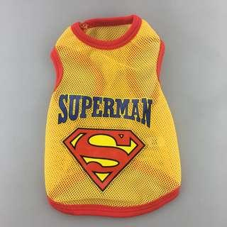 Instock Superman Tee Pet Puppy Cat Clothes Clothing Jersey Animals Kitten Puppy