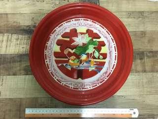 Vintage Double Happiness Enamel Plate