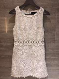 Top shop White dress白色花裙