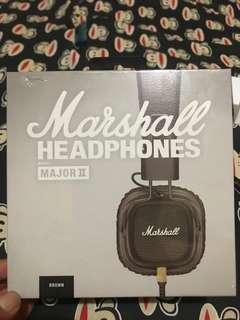 Headsets/ headphone marshall major 2 original like new