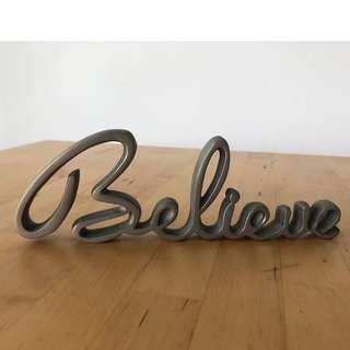 BELIEVE - Standing Word Sign