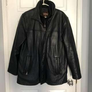 (OBO) LIKE NEW! DANIER Men's Large Black Leather Jacket