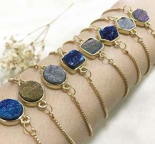 Gemtle Druzy Bracelets (Medium)